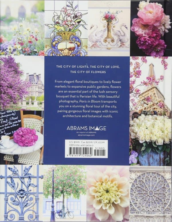 Back cover of Paris in Bloom