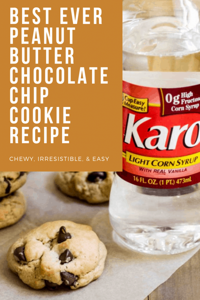 Chewy Peanut Butter Chocolate Chip Cookies via MonPetitFour.com #BakeBetterCookies #ChewyCookies [ad]