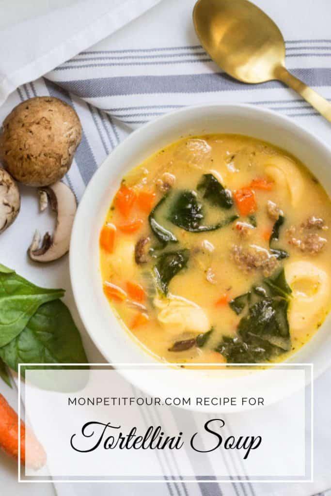 Tortellini Soup Recipe via MonPetitFour.com