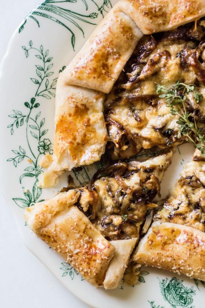 mushroom galette slice image